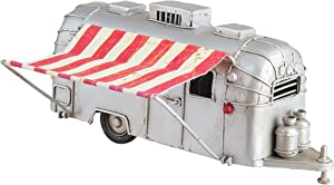 C&F Home Vintage Airstream Silver Camper Trailer Cabin Lodge Gift Present Red White Christmas Xmas Hanging Ornament Silver