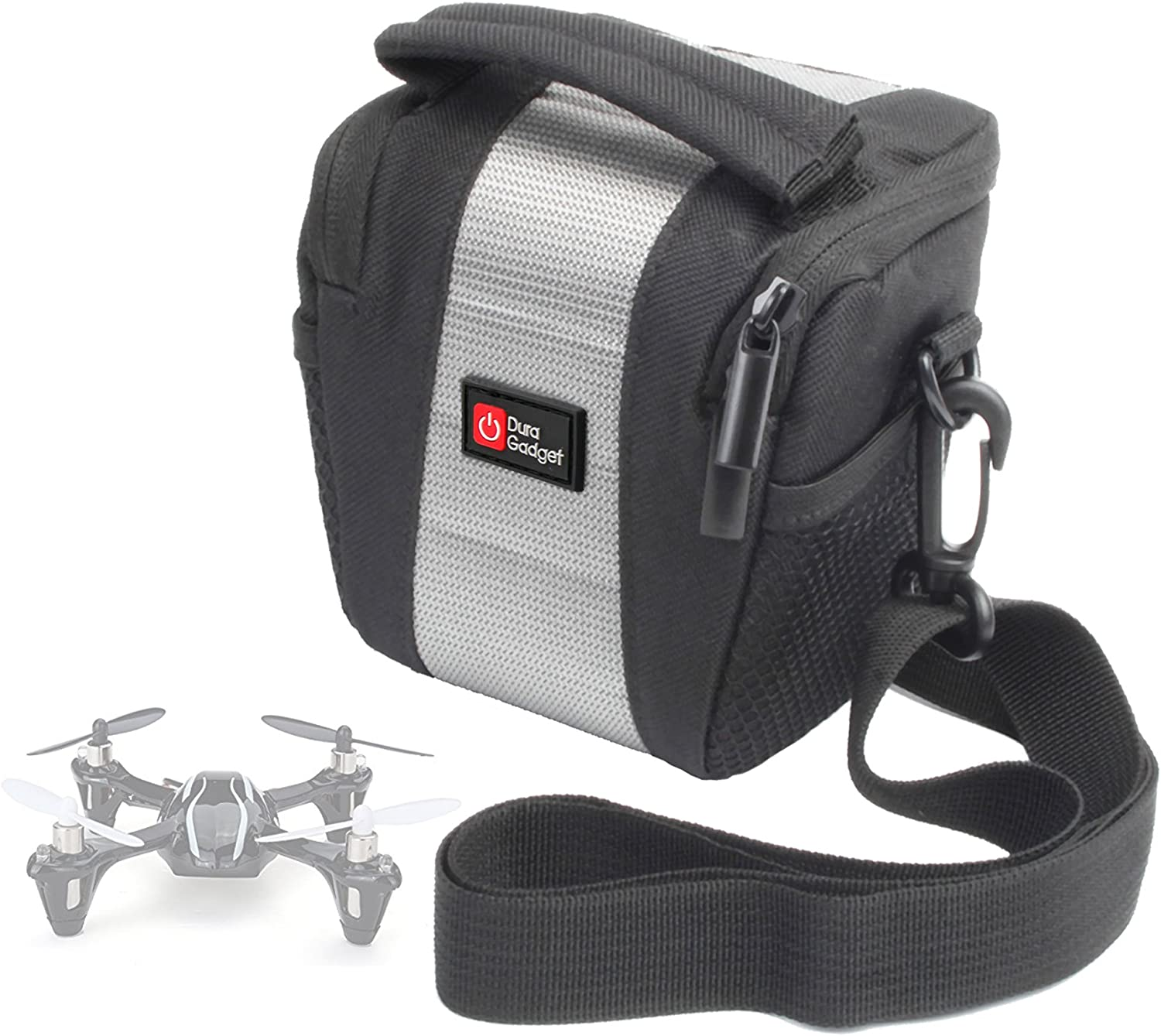 DURAGADGET Water-Resistant Black /& Grey Cross-Body Carry Bag Compatible with The AFUNTA Mini 993 Quadcopter