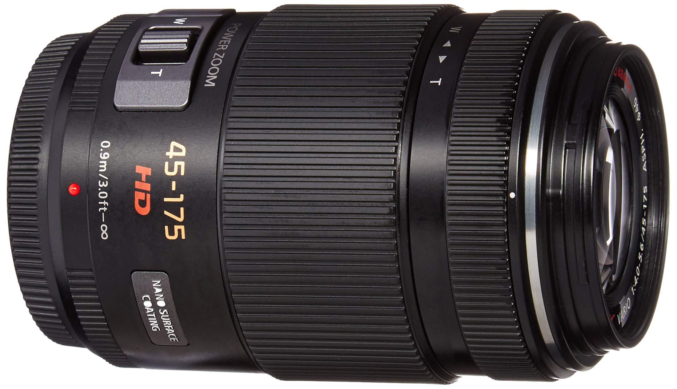 PANASONIC LUMIX G X Vario Power Zoom Lens, 45-175MM, F4.0-5.6 ASPH, MIRRORLESS Micro Four Thirds, Power Optical I.S, H-PS45175K (USA Black) by Panasonic