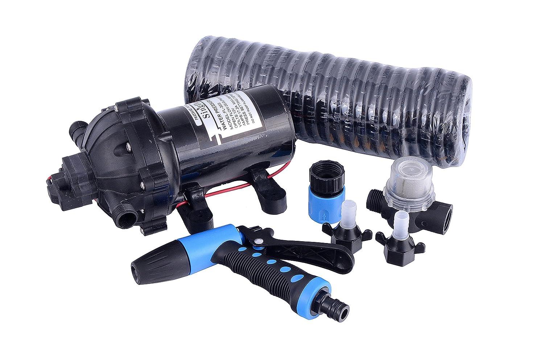 12V 100PSI High Pressure Portable Car Wash Pump Car Electric Pump (12V 100PSI White) HSH-Flo
