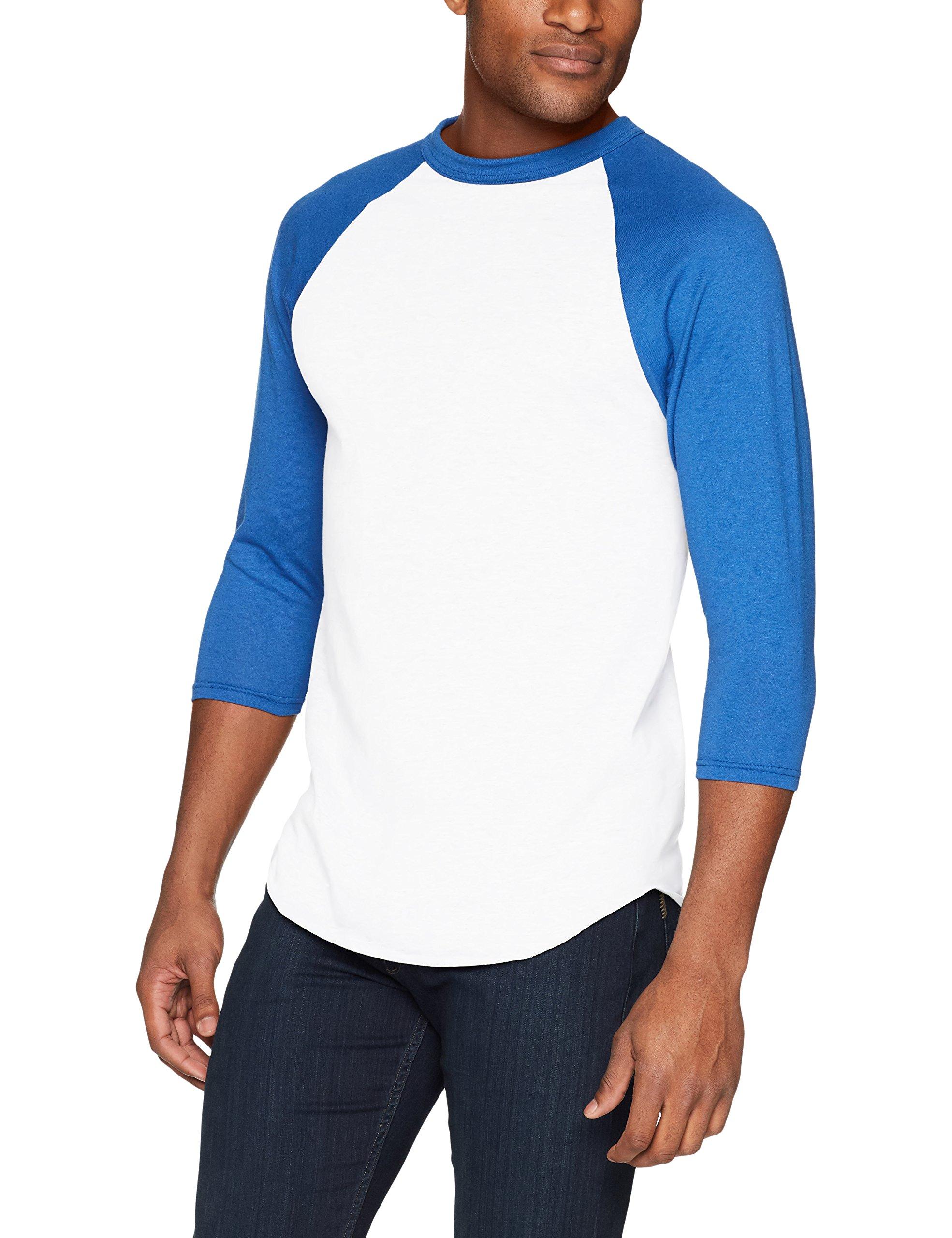 Augusta Sportswear Men's Baseball Jersey, White/Royal, XX-Large by Augusta Sportswear