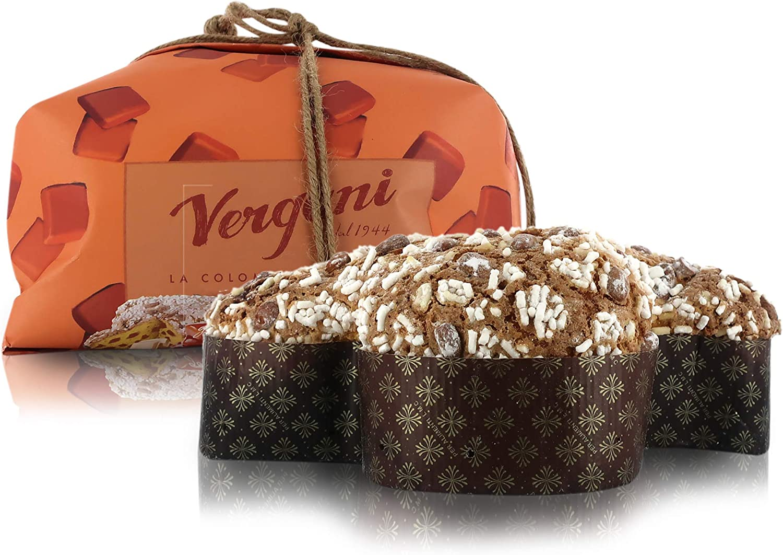 Vergani Salted Caramel White Chocolate Colomba Cake, Italian Easter Cake Without Candied Orange Peels, Gourmet'' Line, 750g/1lb 10.4oz
