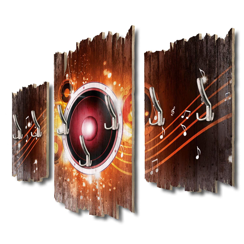 Kreative Feder Red Loudspeaker Designer Wandgarderobe Flurgarderobe Wandpaneele 95 x 60 cm aus MDF DTGH132