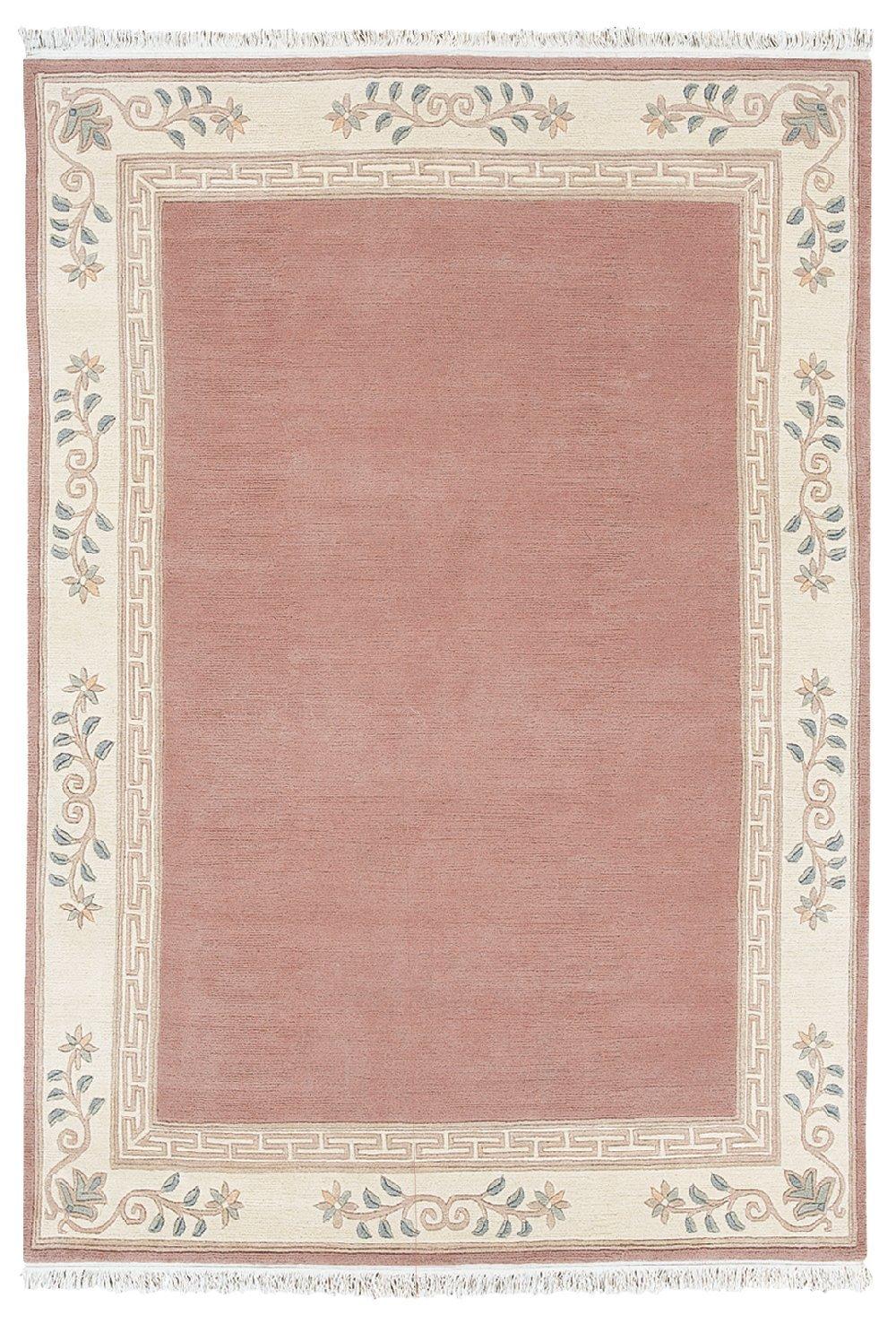 Sona-Lux Nepal Teppich handgeknüpft altrose