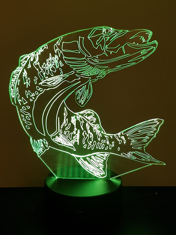 Lampe 3D Motif: Brochet
