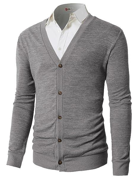 Amazon.com: H2H suéteres tipo cárdigan de manga larga con ...