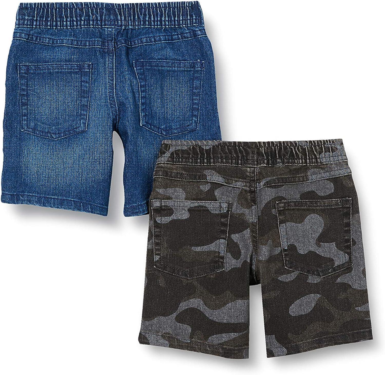 Denim-Shorts Spotted Zebra Paquete de 2 Pantalones Cortos de Mezclilla Camuflaje///índigo EU 92-98 CM