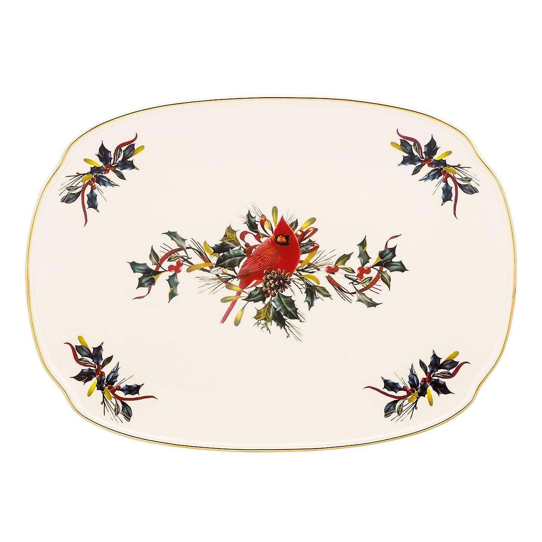Amazon Lenox Winter Greetings Oblong Platterivory Kitchen