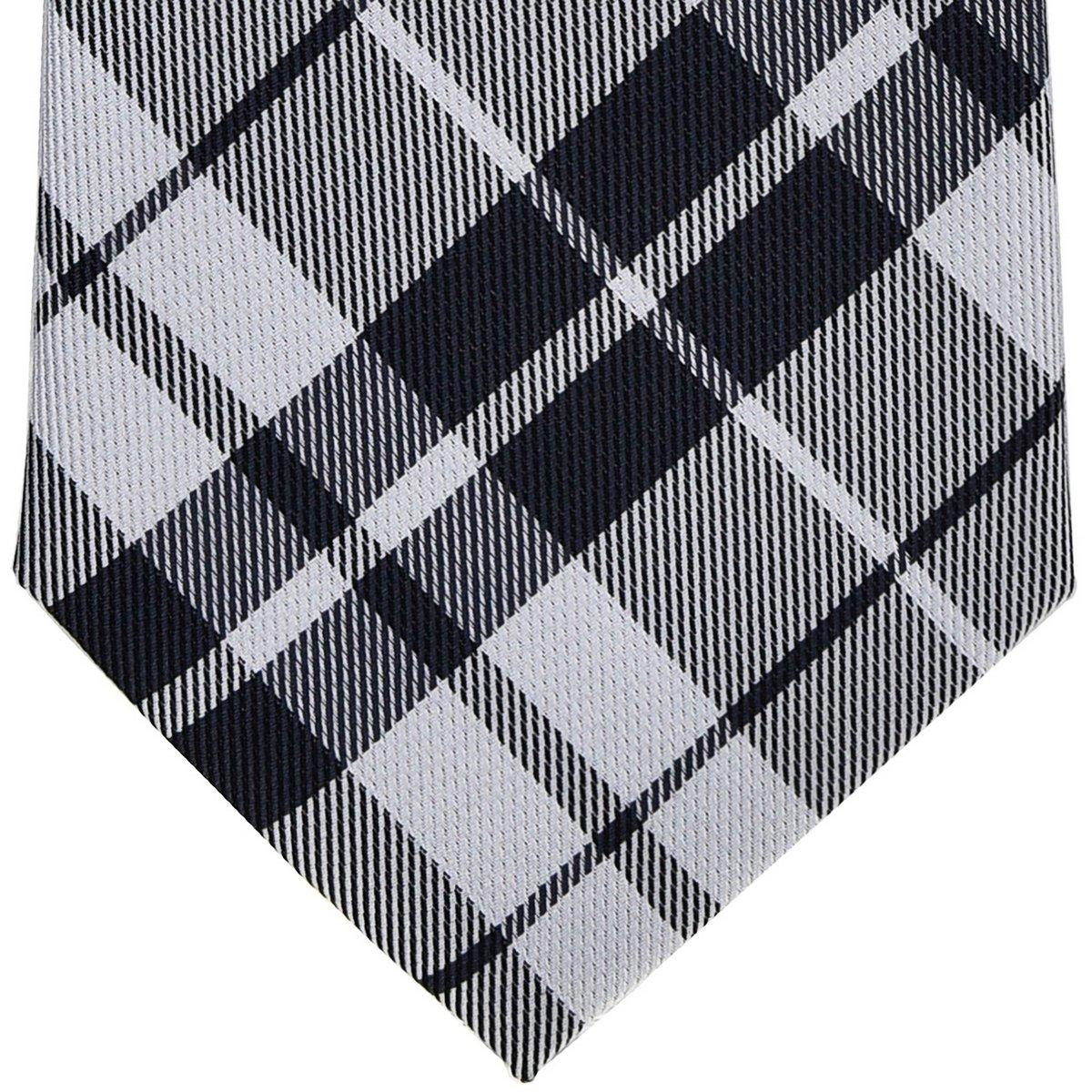 Retreez Preppy Plaid Check Woven Boys Tie Various Colors 8-10 years