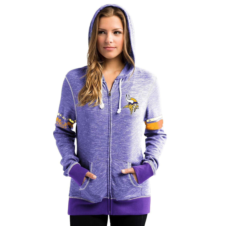 new concept 986c0 fa333 Minnesota Vikings Women's Athletic Tradition Zip-Up Hooded Sweatshirt