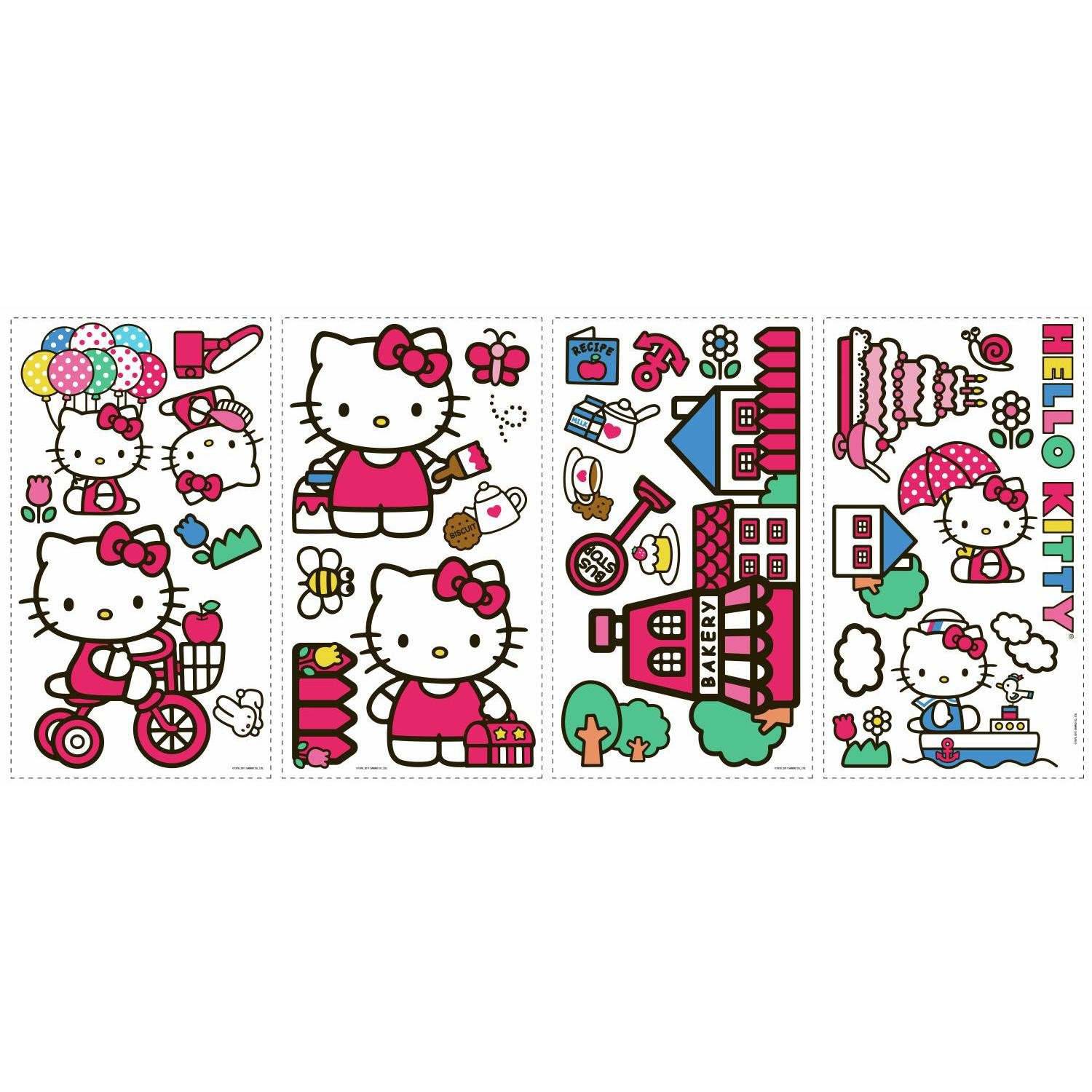 ROOMMATES RMK1678SCS Hello Kitty The World Of Hello Kitty Peel And Stick  Wall Decals   Wall Decor Stickers   Amazon.com Part 25