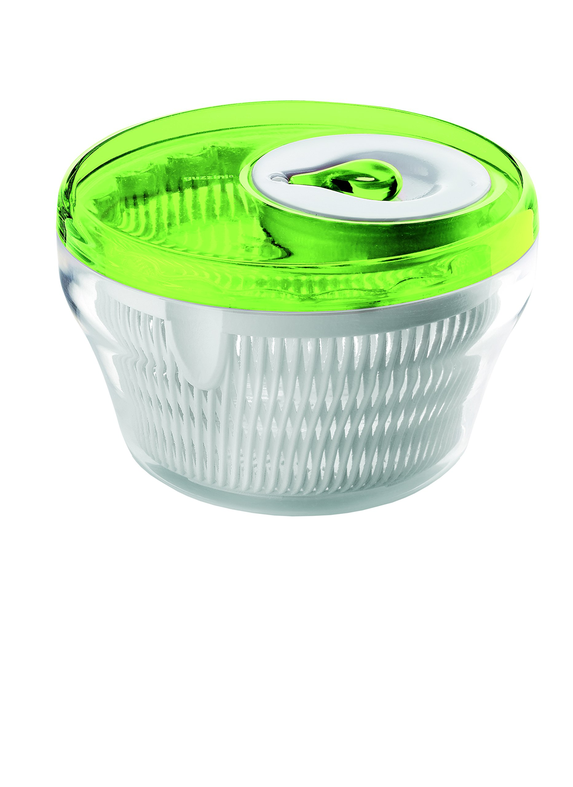 Guzzini Salad Spinner, 11-Inches, Transparent Green by Guzzini