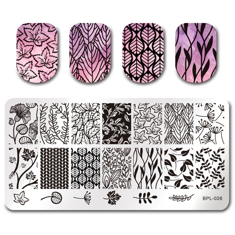 BORN PRETTY Nail Art Stamping Plate Classic Hollow Lace Flower Geometry Manicure Print Template Image Plate