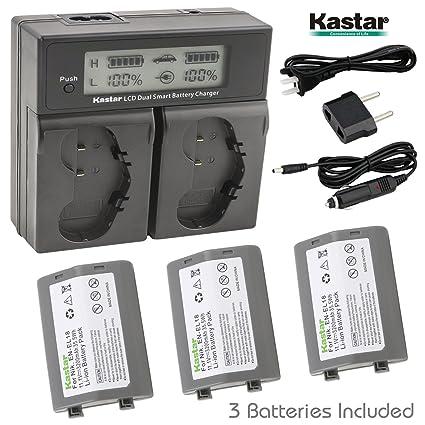 Kastar LCD Dual Smart cargador rápido cartucho recargable (3 ...