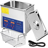 VEVOR 3L Ultrasonic Cleaner Ultrasonic Parts Cleaner Stainless Steel Professional Ultrasonic Jewelry Cleaner with Heater Time