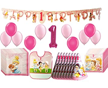 Amazoncom Disney Princess Baby 1st Birthday Party Pack 62pc Toys