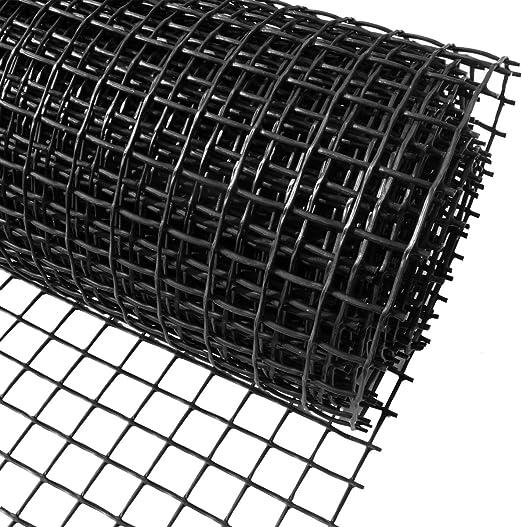 Red de plástico para valla de jardín 1 m x 25 m negro 20 mm plástico Agujeros Clematis – Ideal para plantar, Pet, protección vegetal y red de soporte para plantas trepadoras: Amazon.es: Jardín