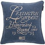 LEXINGTON 20201530141Kissenhülle, Baumwolle, Blau, 50x 50x 1cm