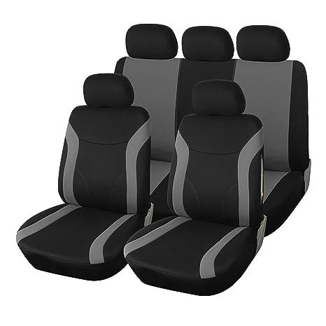 Sitzbezüge Schonbezüge SET KA Fiat Scudo Stoff schwarz