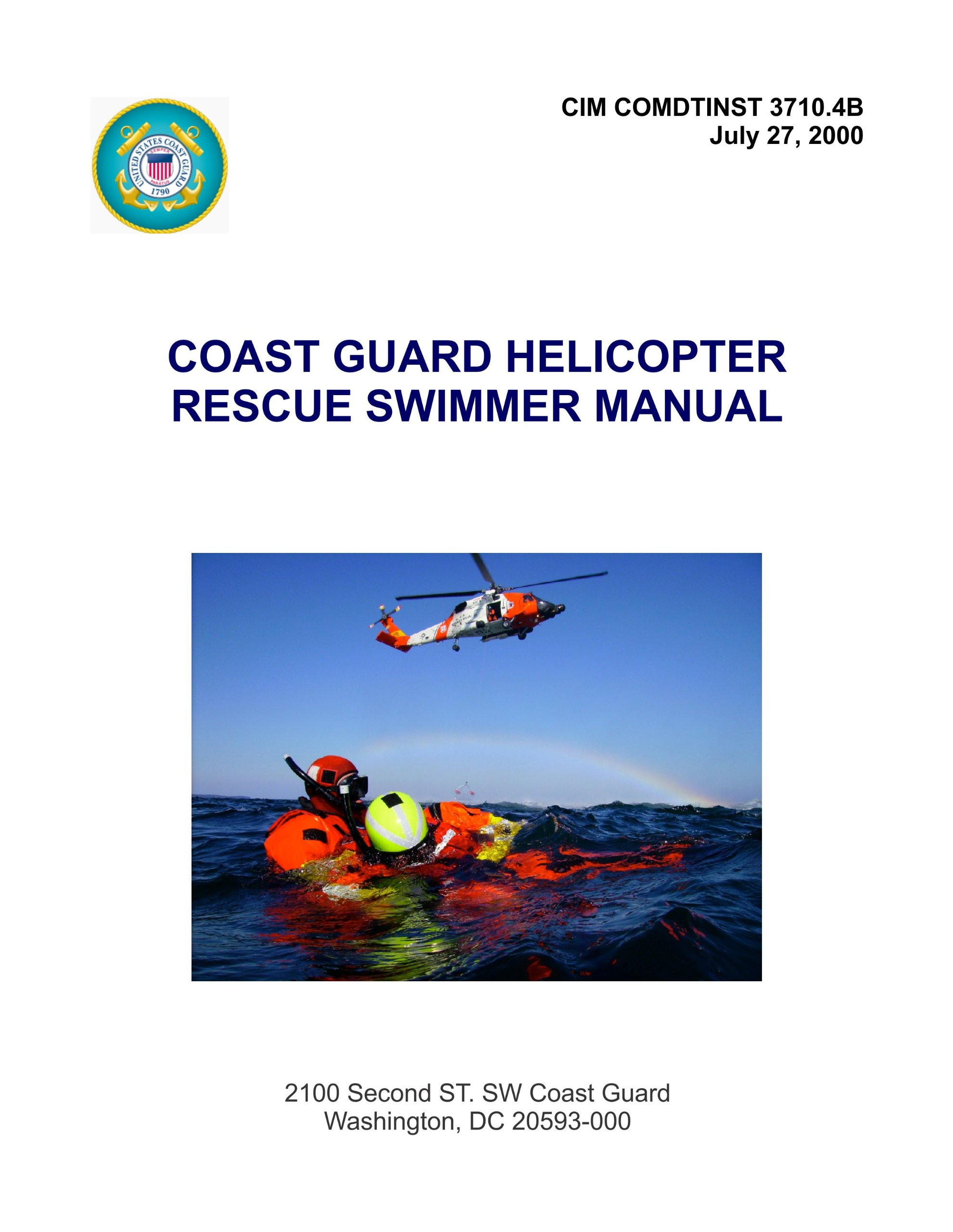 cim comdtinst 3710 4b coast guard helicopter rescue swimmer manual rh amazon com coast guard manual of arms coast guard manuals and publications