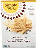 Simple Mills Almond Flour Crackers, Black Cracked Pepper, Gluten Free, Flax Seed, Sunflower Seeds, Corn Free, Good for…