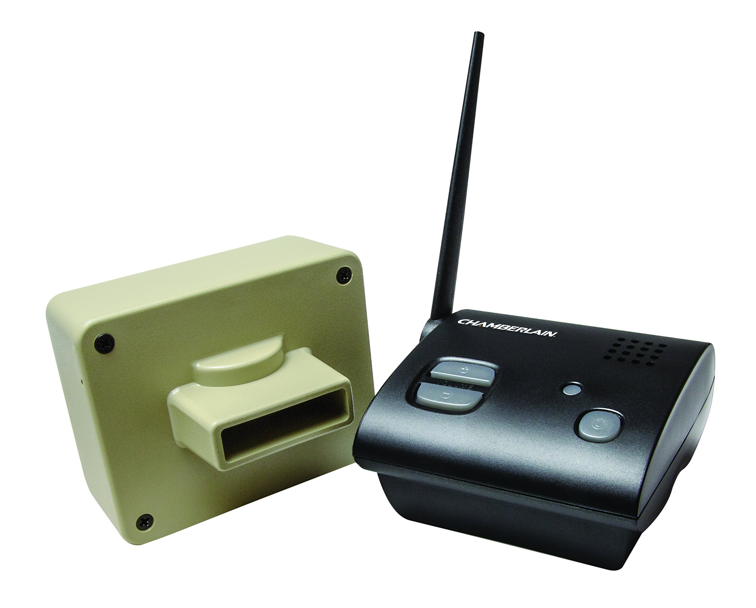 Chamberlain CWA2000 Weatherproof Outdoor/Driveway Wireless Motion Alarm and Alert System, Includes 1 Battery/AC Powered Base Receiver and 1 CWPIR Sensor, Additional CWPIR Sensors Sold Separately