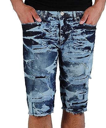 fc4adfbb159756 Jordan Craig Shredded Denim Shorts in Electric Blue from Legacy Edition -  Blue -