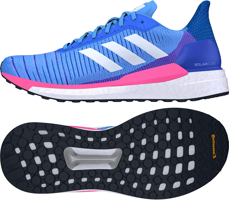 adidas Damen Solar Glide 19 Straßenlaufschuhe Blau Pink