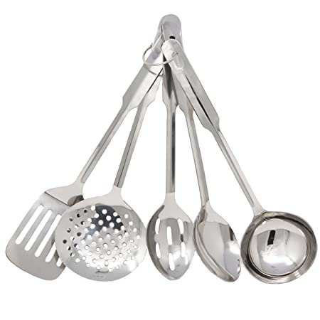 Amco 8796 Stainless Steel 5-Piece Utensil Set