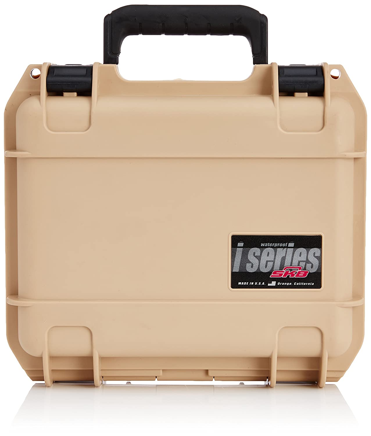 SKB Cases iSeries 0907-4 Waterproof Utility Case Tan, 10 3/4 X 9 3/4 X 4 7/8 by SKB Cases B00F534K8A
