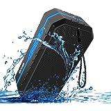 LOBKIN Impermeable IPX6 Altavoz portátil Bluetooth estéreo de 3W Anti-Polvo, Anti-caída al Aire Libre Pensamiento Altavoz inalámbrico Incorporado en 1800mAh batería Recargable (Azul)