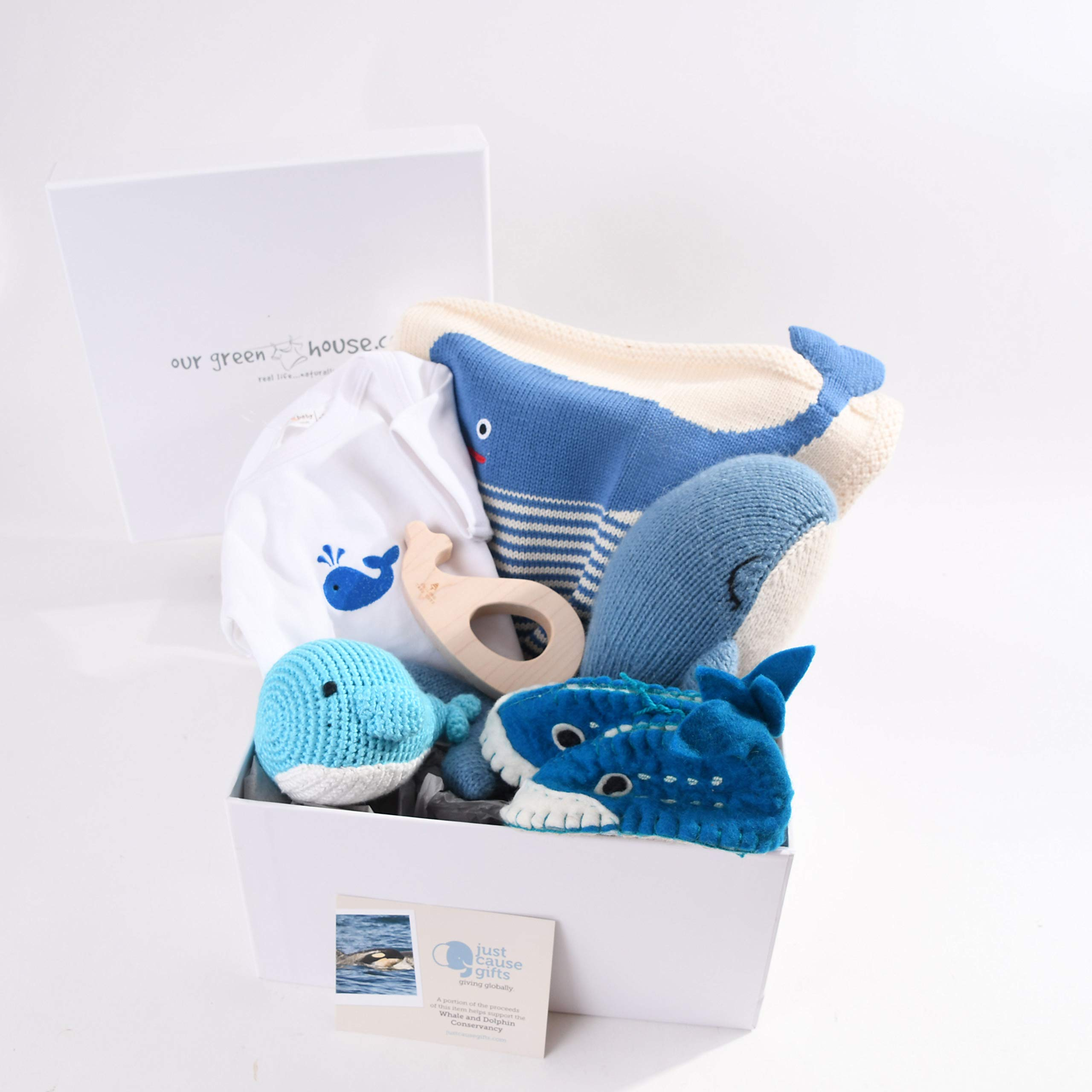 Baby Gifts That Give Back - Save The Whales Organic Toys and Clothes for Baby (6-12 Months)