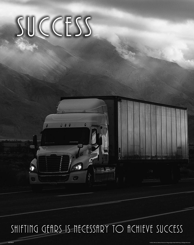 Apple Creek Semi Truck Driver Success Motivational Poster Art Print 11x14 Wall Decor Office Pictures