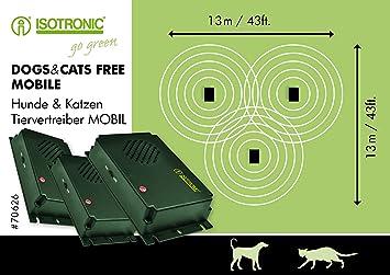 Isotronic tierabwehr – Conductor Juego de 3 contra Gatos Perros Perros Ahuyentador Ahuyentador de Gatos por