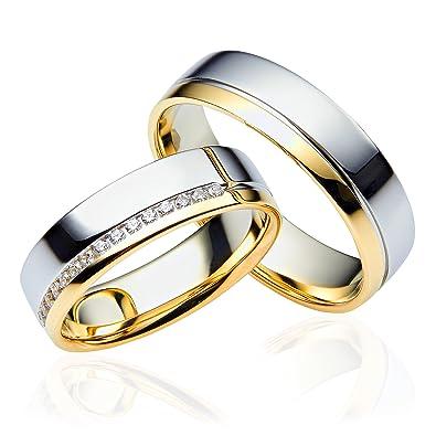 2 X 333 Gold Eheringe Partnerringe Trauringe Hochzeitsringe In