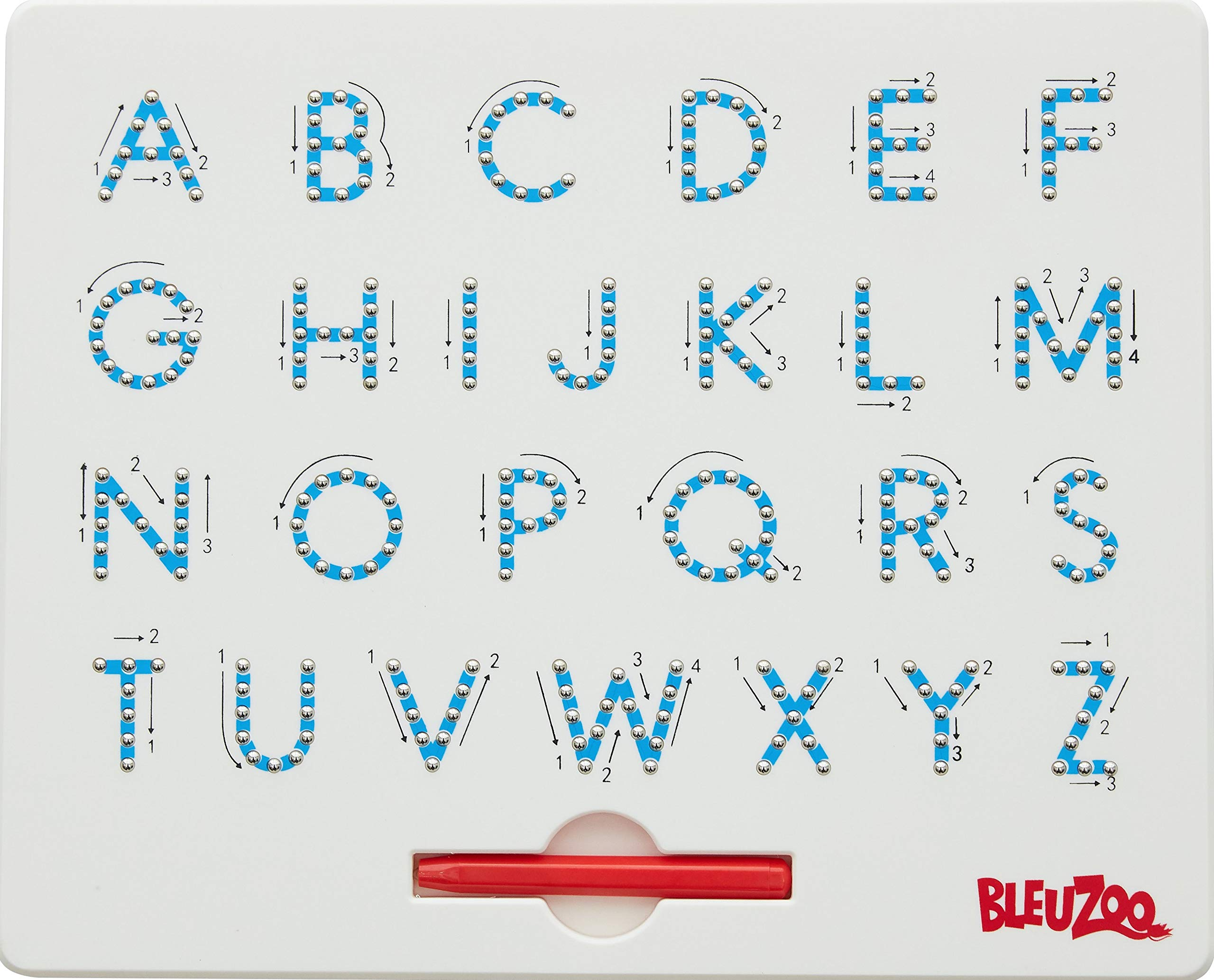 BleuZoo Alphabet Magnetic Letter Tracing Board - Educational ABC Read Write Learn Preschool Drawing (Uppercase) by BleuZoo