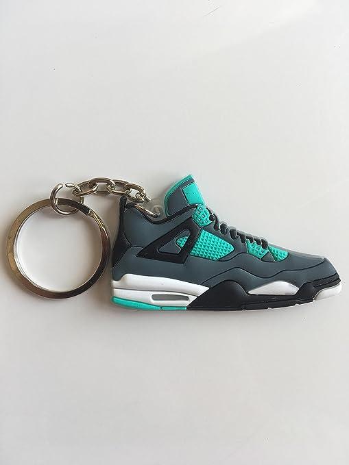 d5e3d91d560f97 Amazon.com   Jordan Retro 4 Teal Sneaker Keychain Shoes Keyring AJ 23 OG    Sports   Outdoors