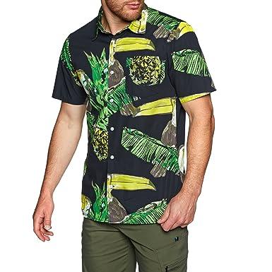 competitive price 04912 6e77a Hurley Herren Hemd kurz Toucan Hemd: Amazon.de: Bekleidung