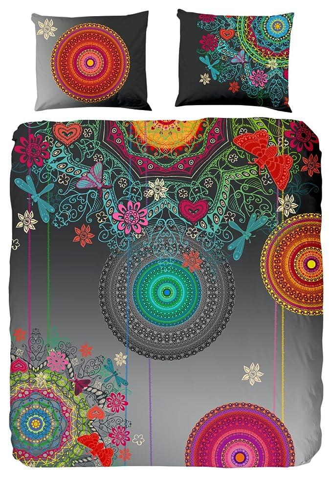 HIP 5371-H Freya Parure de Couette Coton Multicolore 240 x 220 cm
