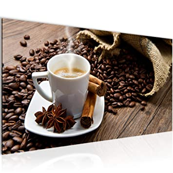 Amazon.de: Bilder Kaffee Coffee Wandbild 100 x 40 cm Vlies ...