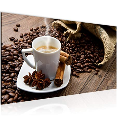 Amazon.de: Bilder Küche Kaffee Wandbild Vlies - Leinwand Bild XXL ...