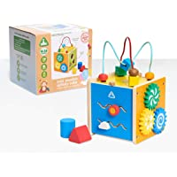 Early Learning Centre Mini Wooden Activity Cube, Fine Motor Skills, Hand Eye Coordination, Problem Solving, Toys for…
