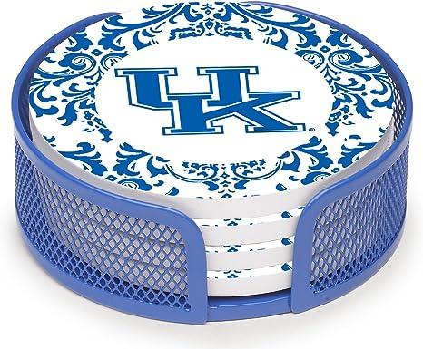 Thirstystone Stoneware Drink Coaster Set With Holder University Of Kentucky Pattern Coasters