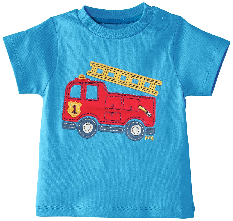 Kite Baby-Boys Fire Engine Round Collar Short Sleeve T-Shirt