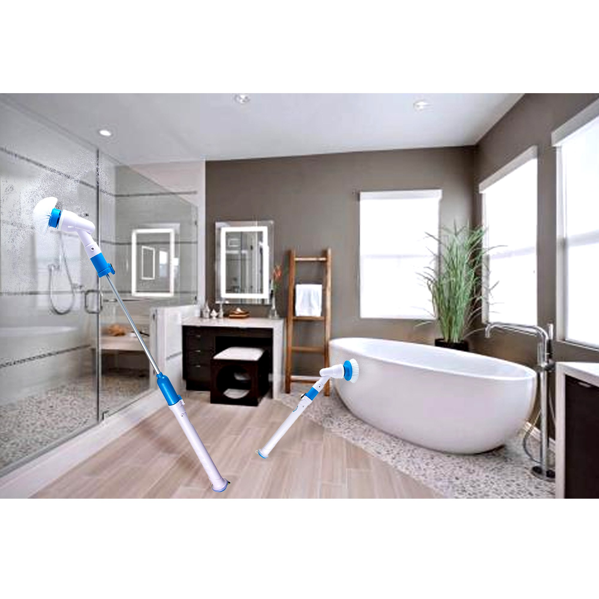 Electric Spin ScrubberReabeamHigh Power Automatic Cleaning - Automatic bathroom scrubber