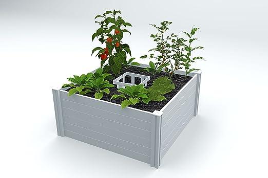 Vita Keyhole Classic blanco recaudado jardín cama: Amazon.es: Jardín