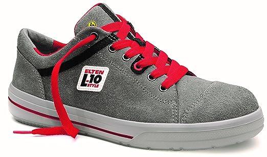 classic fit fd666 1ce45 ELTEN Sicherheitsschuhe VINTAGE Low ESD S3, Herren, sportlich, Sneaker,  leicht, grau/rot, Stahlkappe - Größe 37
