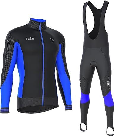 Bavaglino da ciclismo da uomo con imbottitura in gel e maglia da ciclismo FDX in edizione limitata