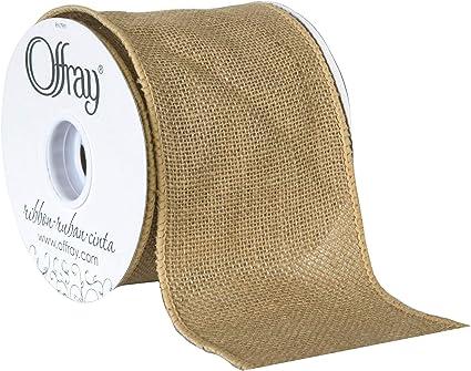 3 Yards Berwick Offray 145522 1.5 Wide Craft Burlap Ribbon White