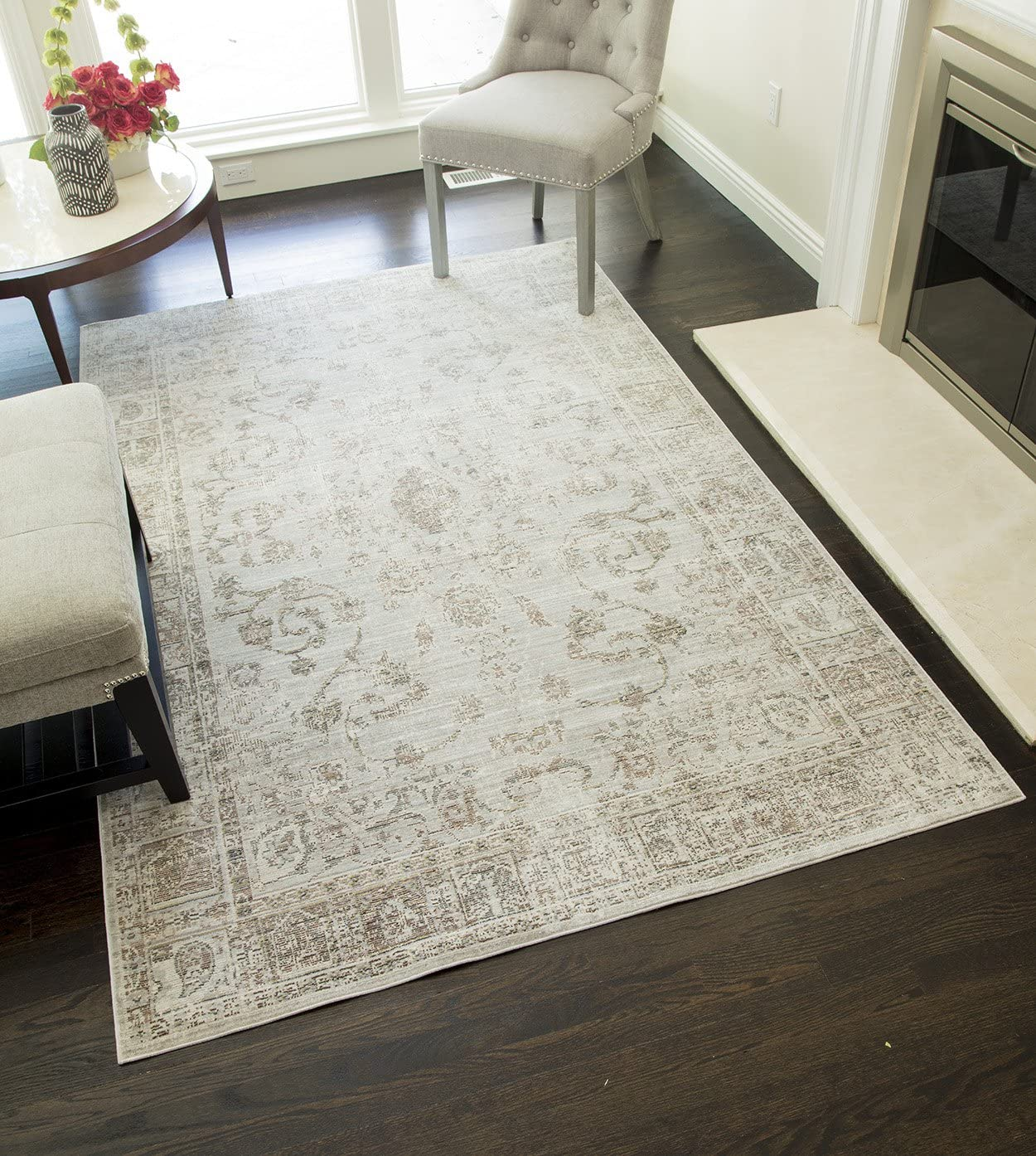 Home Garden Rugs Area Rugs Carpet 5x7 Area Rug Floor Modern Gray Checkered Cool Blue Rugs Sisal Seagrass Area Rugs